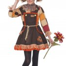 Size: Medium #00375  Wizard of Oz Patchwork Scarecrow Girls Child Costume