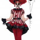 Size: Medium #00623  Wicked Clown Gothic IT Monster Girls Child Costume