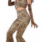Size: X-Small #01260 Cat Leopard Pant Set Feline Adult Costume
