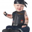 Size: 6-12 Months #10053 Born to Ride Harley Davidson Motorcycle Gang Baby Infant Costume