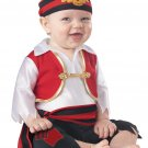 Size: 6-12 Months #10050 Disney Jack Sparrow Buccaneer Pee Wee Pirate Baby Infant Costume