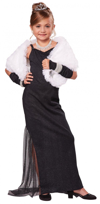 Breakfast at Tiffany's Audrey Hepburn Hollywood Diva Child Costume Size: Medium #00565