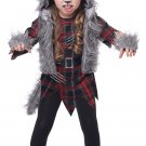 Size: Large  #2020-037 Wee-Wolf Girl Toddler Werewolf Child Costume