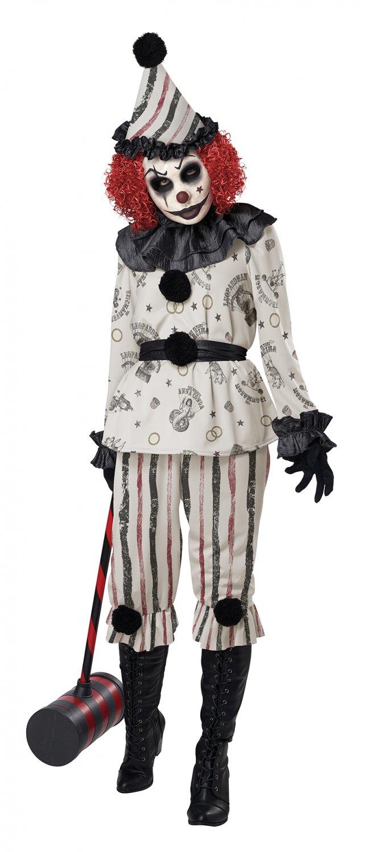 Size: Small #5020-011 Vintage Clown Circus Joker Sadistic Clown Adult Costume