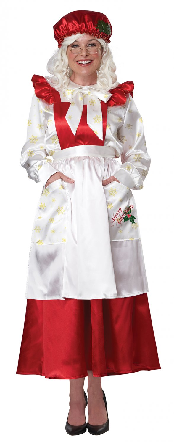 Size: Large #5020-009  Christmas Mrs. Claus Pinafore  Dress Adult Costume