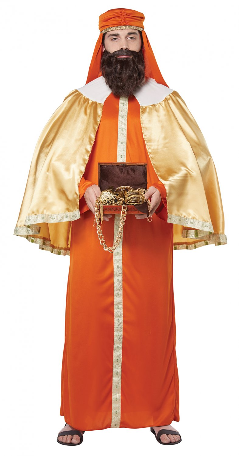 Size: Small/Medium #01499  Biblical Gaspar Wise Men Nativity Adult Costume