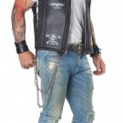 Size: Medium #01292  Badazz Biker Vest Hells Angel Adult Costume