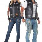 Size: Large #01292   Badazz Biker Vest Motorcycle Gang Adult Costume