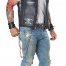Size: X-Large #01292   Hells Angel Badazz Biker Vest Motorcycle Gang Adult Costume