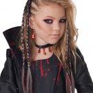#7020-108 Steampunk Gothic Vampire Clip In Braids Adult Costume Wig