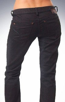 $175 UNION JEANS  STRETCH BLACK SHEER WASH-431F sz29