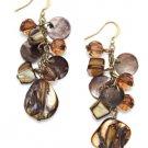 Style&co. Earrings, Brown Shell Cluster Earrings