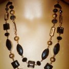 Charter Club 2 ROW FRONTAL BEADED, BIB STATEMENT GOLD TONE NECKLACE