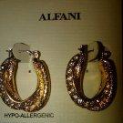Alfani Earrings, Gold-Tone Twist Crystal Hoop Earrings -LAST ONE