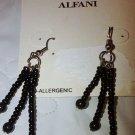 New Alfani Black Beaded Graduated drop earrings. Light n Fun