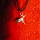 SILVER-TONED HUMMINGIRD (CHUPAROSA) CHARM ON CORD