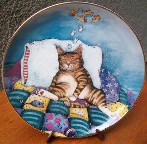 "Danbury Mint Plate ""Cat Nap"" by Gary Patterson"
