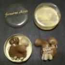Genuine Mink Fur Poodle Pins (Vintage)