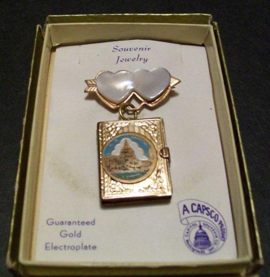 Washington D.C. Souvenir Locket Pin by Capsco