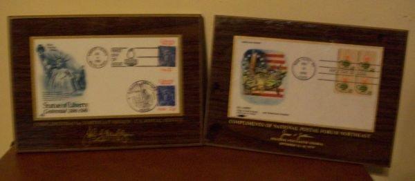 Souvenir Commemorative Stamp Plaques