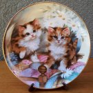"Franklin Mint ""Kitten Country"" Plate by Brian Walsh"