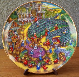 """Franklin Mint """"A Purrfect Harvest"""" Plate by Bill Bell"""