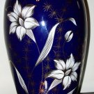 Blue Floral Porcelain Vase made in Poland