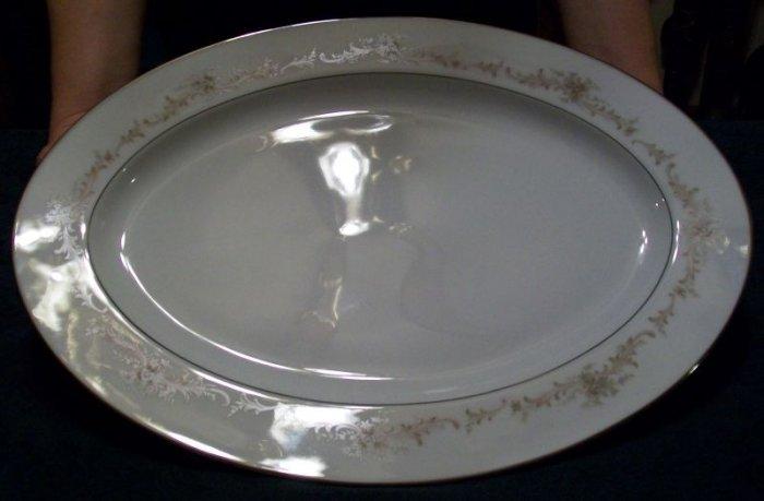 Sango China Large Serving Platter, Carousel Pattern