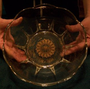 Georges Briard Glass Bowl 1950's Regalia Pattern