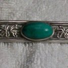Jade Pin (Vintage, Silver Plated)