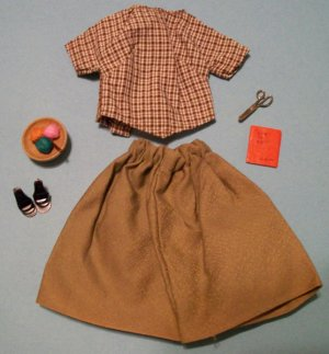 "Vintage Barbie ""Pattern Dress"" with Accessories"