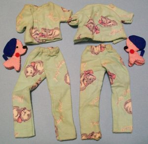 "Vintage Barbie ""Pattern Outfit"" Pajamas"