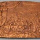 Vintage Julien Prosper Legastelois Bronze Plaquette