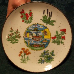 Washington D.C. Souvenir Plate by Spin Original (Japan)