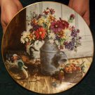 "Bradford Exchange ""Homespun Beauty #8207A"" Plate By Glenna Kurz"