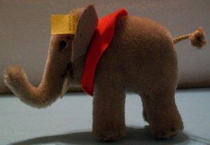 Vintage Steiff Elephant With Felt Saddle