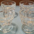 Vintage Glass Dessert Cups