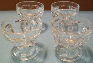 Vintage Glass Dessert Cups