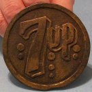 7-Up Belt Buckle (Brass, Vintage)