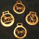 Set of 4 Horse Brasses (Vintage)