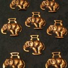 Set of 8 Elephant Horse Brasses (Vintage)