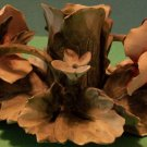 Nuova Capodimonte Flower Candle Holder