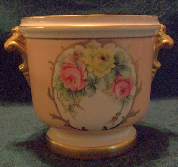 Urn Style Vase Sign Larson (vintage)