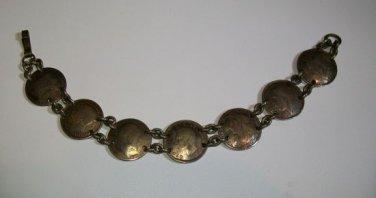 Vintage English Coin Bracelet