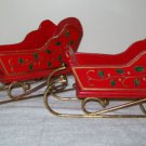 Wooden Christmas Sleighs (vintage,set of 2)