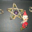 Set of Three Vintage Beaded Christmas Ornaments (made in occupied Japan)