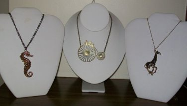 Set Of Three Novelty Necklaces