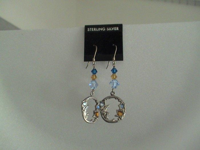 Vintage Sterling silver & Swarovski crystal
