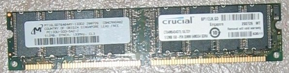 PC133U-333-542-Z, Micron 512MB CL3 ---free shiping