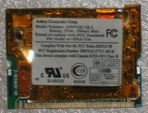 laptop use, Askey Modem for Compaq 1456VQL1Q-2